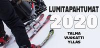 Vuoden 2020 matalan kynnyksen Lumitapahtumat Talmassa, Vuokatissa ja Ylläksellä.